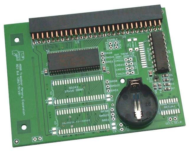 Memory Expansion 512 KB for Amiga 500 w/ RTC