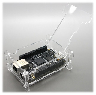 AVC BeagleBone Black Acrylic Case (with top lid open)
