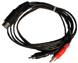 Monitor cable 2x Cinch