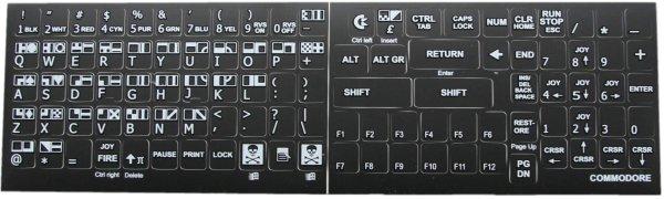 Vesalia Online - C64 Keyboard Stickers