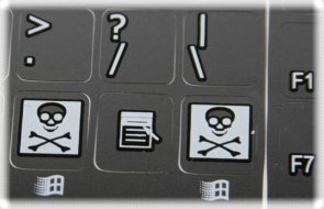 C64 keyboard stickers details (black)
