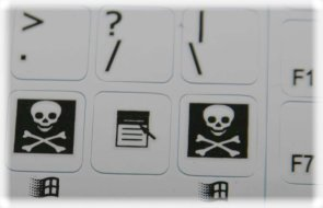 C64 keyboard stickers details (white)