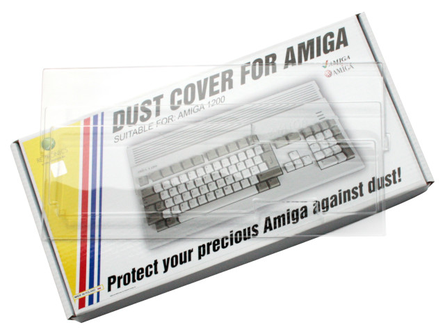 Translucent dust cover for Amiga 1200