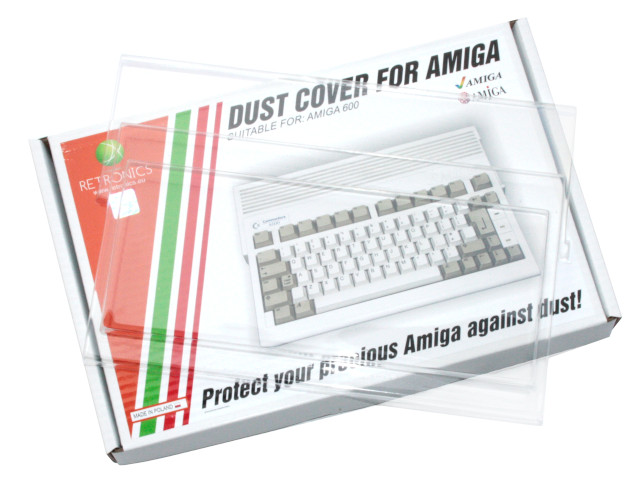 Translucent dust cover for Amiga 600