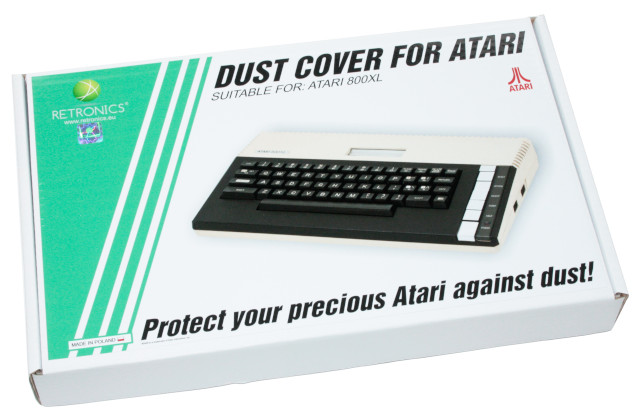 Translucent dust cover for Atari 800XL