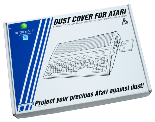 Translucent dust cover for Atari ST