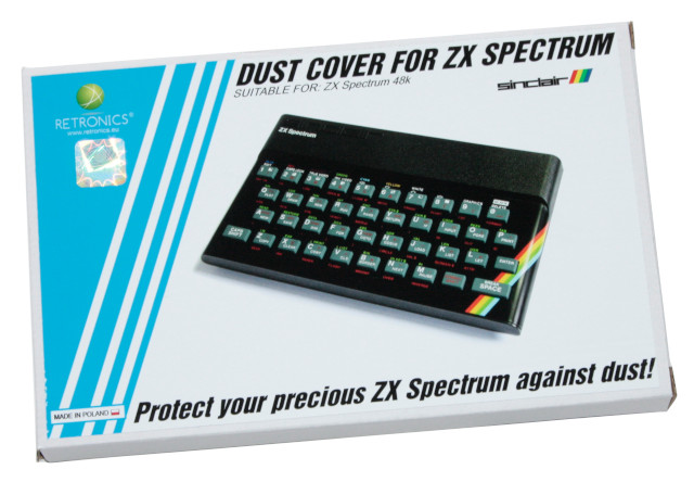 Translucent dust cover for Sinclair ZX Spectrum 48K