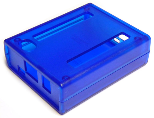 Hammond Enclosure for BeagleBone Black, translucent blue