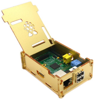 Luxury Pi Case - Mirror Gold (aufgeklappt)