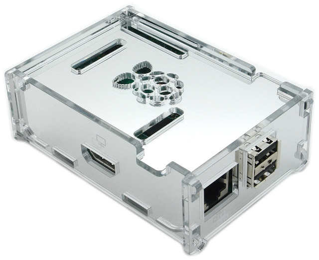 Luxury Pi Case - Mirror Silver