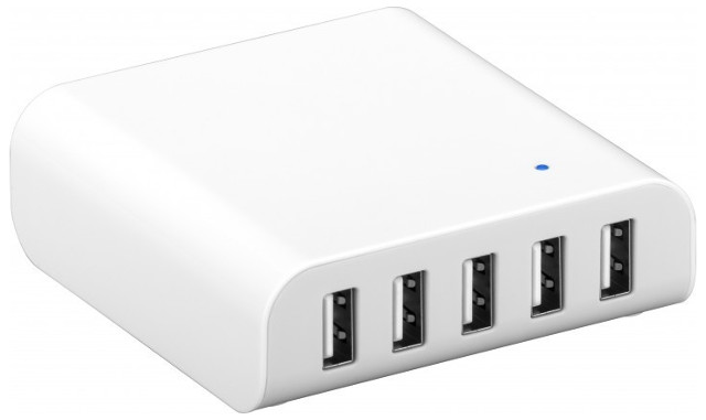 Intelligenter USB-Multiportlader, weiß