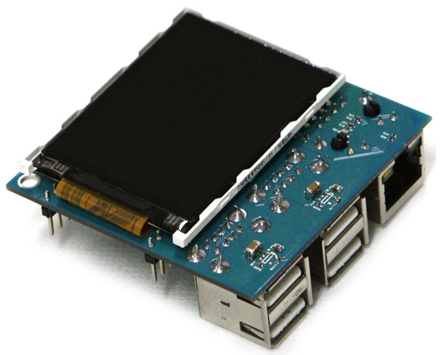ODROID-W Docking Board mit LCD