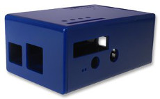 ABS Enclosure for Raspberry Pi Model B with PiFace, blue