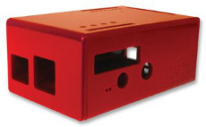 ABS Enclosure for Raspberry Pi Model B with PiFace, red