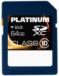 Platinum SDXC 64 GB