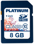 Platinum SDHC 8 GB