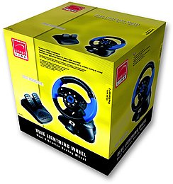 Blue Lightning Racing Wheel