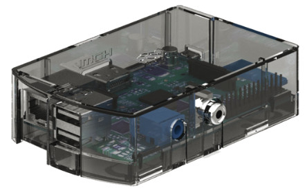 Transparent Case for Raspberry Pi Model B