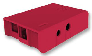 Red Case for Raspberry Pi Model B