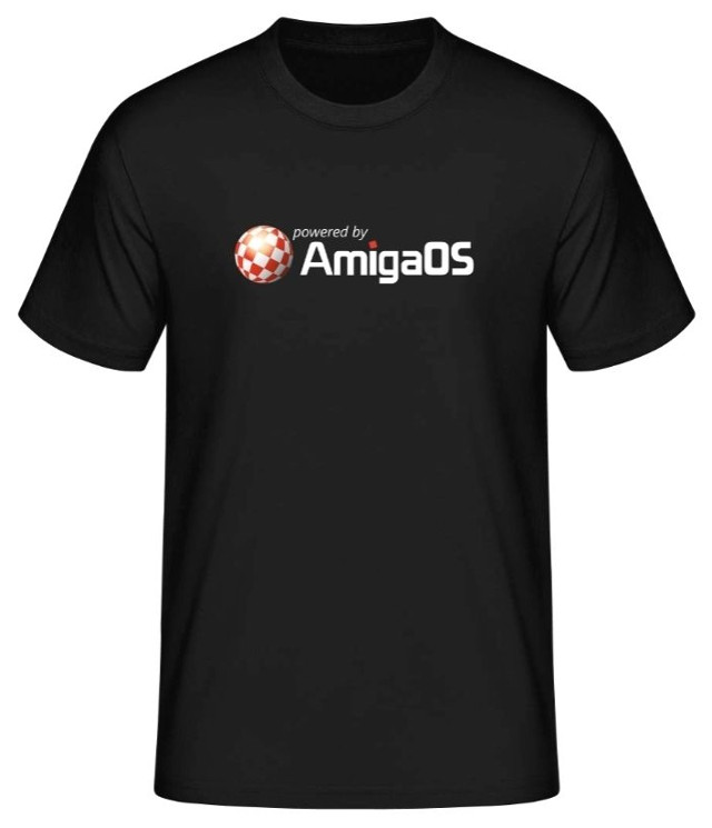 T-Shirt 'Powered by AmigaOS'