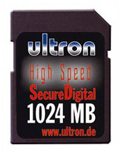 Ultron Secure Digital Card 1024 MB (1 GB)