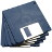"Pack of 10 DSDD 3.5"" floppy disks (720/880K)..."
